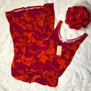 MICHAEL Michael Kors Sleeveless Pink Orange Maxi